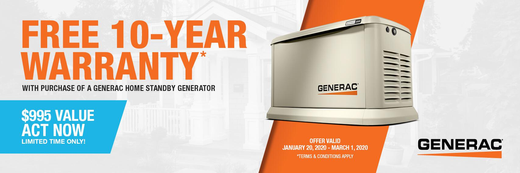 Homestandby Generator Deal | Warranty Offer | Generac Dealer | Mandeville, LA